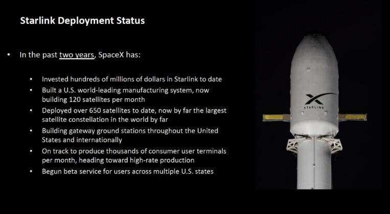 SpaceX官宣:星链网络延迟低于20毫秒,计划在美国多州进行公测