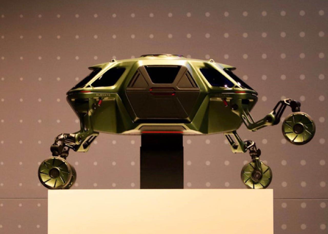 现代Elevate概念车亮相(能行走攀爬的车见过没)