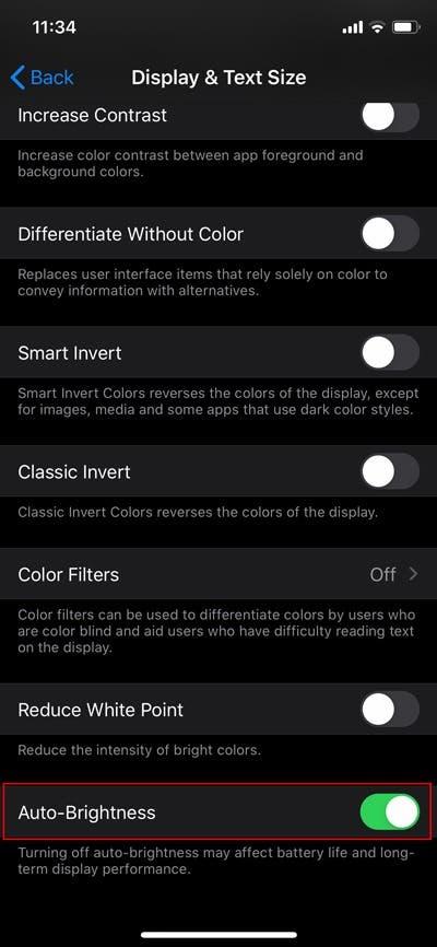 iphone自动亮度在哪里关闭(iphone自动亮度调整方法)