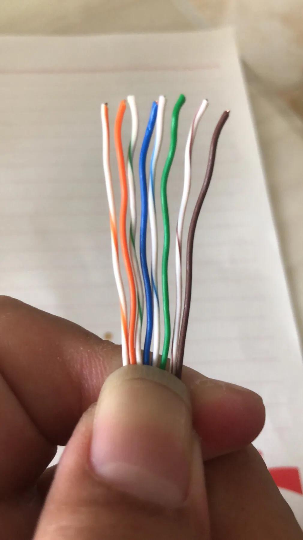 八芯网线水晶头接法顺序(8芯网线水晶头接线排序图)