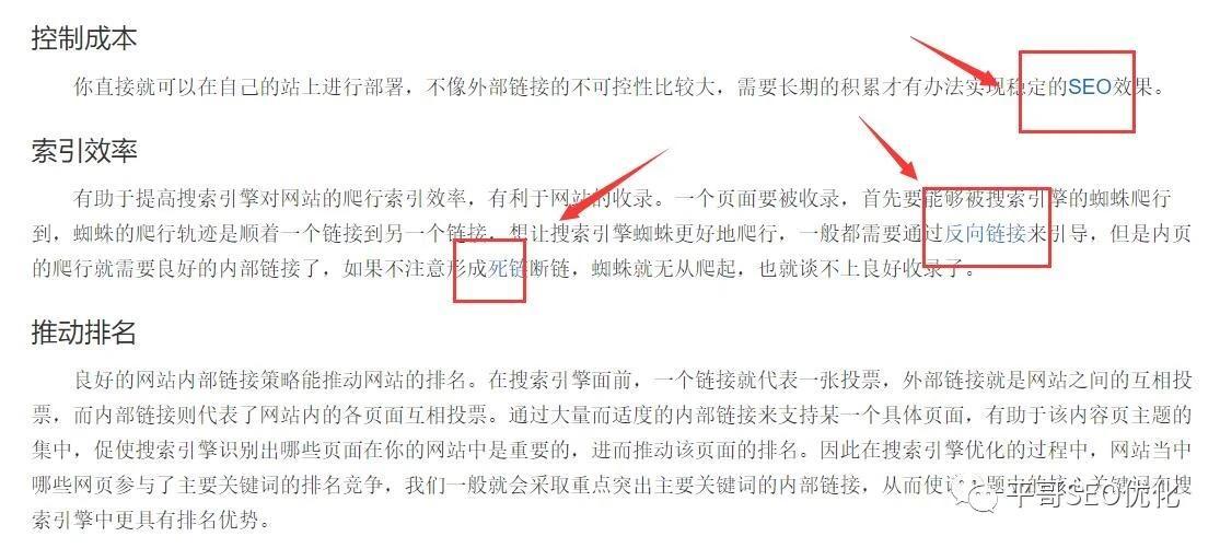 seo优化中的内链是什么(SEO内链核心策略解说)