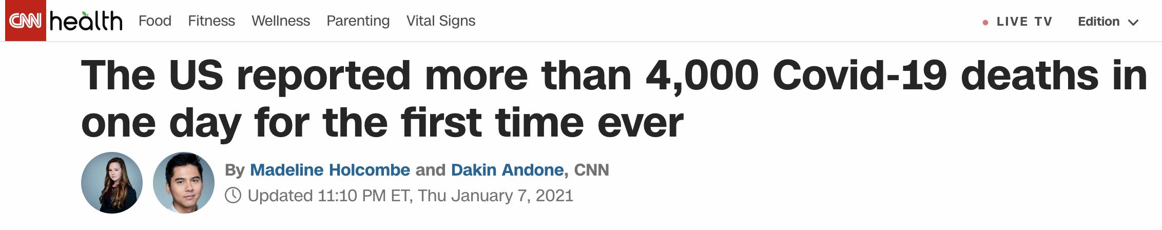 美国新增近4000例(美国日均新冠死亡病例增加)